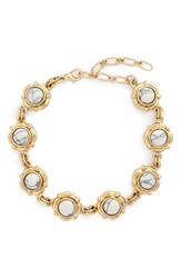 Junior Women's Bp. Natural Stone Bracelet Ivory Gold