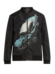 Christopher Kane Car Crash Print Shell Jacket Black Multi
