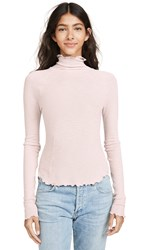 Free People Make It Easy Thermal Long Sleeve Tee Ballet