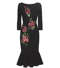 Dolce And Gabbana Sequinned Wool Dress Black