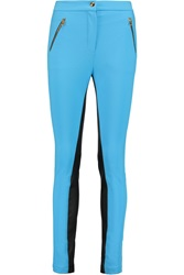 Emilio Pucci Stretch Twill And Leather Skinny Pants