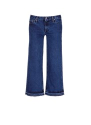 Simon Miller 'Varra' Frayed Cuff Cropped Wide Leg Jeans Blue