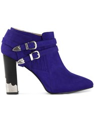 Toga Pointed Toe Ankle Boot Blue