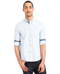 Kenneth Cole Reaction Micro Check Shirt Heron Blue