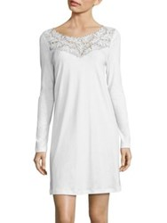 Hanro Frida Long Sleeve Gown White