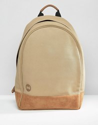 Mi Pac Xl Canvas Backpack Stone Beige