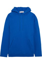 Balenciaga Oversized Cotton Terry Hooded Top Blue