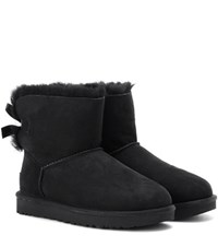 Ugg Mini Bailey Bow Ii Suede Boots Black