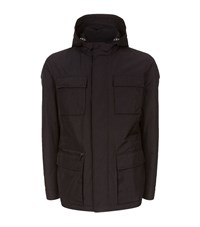 Boss Hooded Field Jacket Male Black