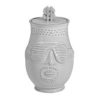 Jonathan Adler The Hip Hop Prince Canister White