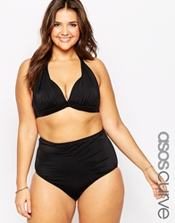 Asos Curve Mix And Match Sexy Halter Top With Support Black