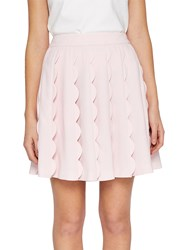 Ted Baker Poppay Scallop Detail Mini Skirt Baby Pink
