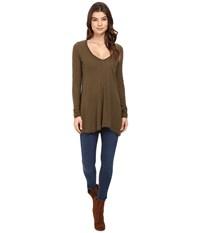 Free People Anna Tee Olive Women's T Shirt