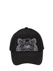 Kenzo Tiger Embroidered Nylon Canvas Hat Black