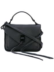 Rebecca Minkoff String Applique Cross Body Bag Women Leather One Size Black