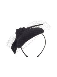Precis Petite Anne Bow And Mesh Wool Hat Black