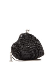 Saint Laurent Love Box Heart Shaped Crystal Embellished Clutch Black