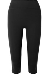 All Access Center Stage Cropped Stretch Leggings Black