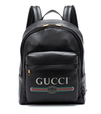 Gucci Printed Leather Backpack Black