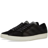 Off White Brushed Diagonals Sneaker Black