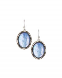 Armenta New World Large Sapphire Triplet And Diamond Oval Drop Earrings Multi