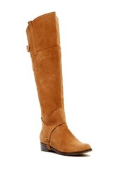 Restricted Trace Suede Riding Boot Brown