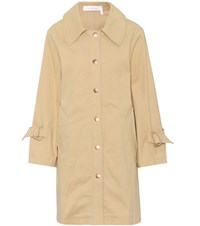 See By Chloe Cotton Twill Coat Beige