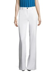 Roberto Cavalli Cotton And Silk Flared Pants Optical White