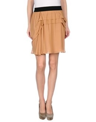 See By Chloe See By Chloe Knee Length Skirts Camel