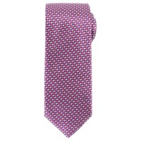 John Lewis Geo Arrow Woven Silk Tie Pink Purple