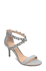 Jewel Badgley Mischka Jaylee Sandal Silver Satin