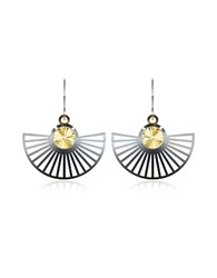 Vojd Studios Phase Precious Sterling Silver Fan Dangle Earrings