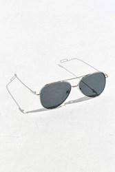 Urban Outfitters Flat Lens Aviator Sunglasses Black