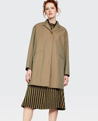 Aspesi Cotton Overcoat Green
