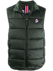 Invicta Logo Patch Padded Gilet Green