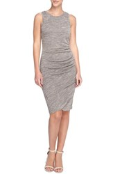 Catherine Malandrino Women's 'Murial' Ruched Marled Jersey Body Con Dress Light Grey Heather