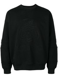 Iceberg Branded Jersey Sweater Black