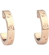 Cartier Love 18Ct Pink Gold Earrings