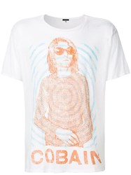 R 13 R13 Cobain T Shirt Cotton Cashmere L White