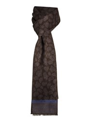 New And Lingwood Paisley Formal Scarf Black
