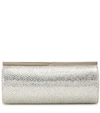 Jimmy Choo Trinket Embellished Clutch Silver