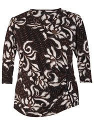 Chesca Floral Top Chestnut