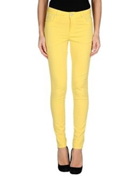 Siviglia Denim Casual Pants Yellow