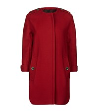 Burberry Technical Wool Cashmere Collarless Coat Female Black