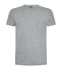 Tom Ford Chest Pocket T Shirt Male Light Grey