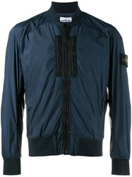 Stone Island Zipped Lightweight Jacket Blue
