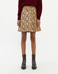 Just Female Noemi Leather Skirt In Snake Size Extra Small