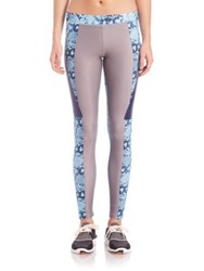 Adidas By Stella Mccartney Run Techfit Long Tights Oyster Blue