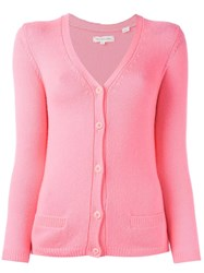 Chinti And Parker V Neck Cardigan Pink Purple