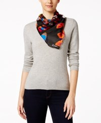 Echo Butterfly Square Scarf Black